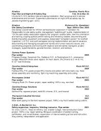 Pipefitter Resume Resume Robert Weaver