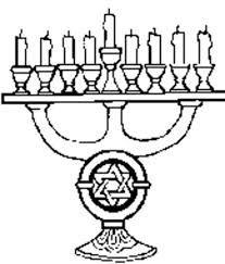 chanukah ornaments menorah colouring page colouring