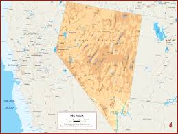 Nevada Map Nevada Physical State Map
