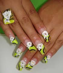 50 diseños de uñas con flores en 3d flores acrilicas ε diseños