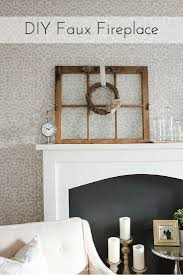 diy faux fireplace a guest post for aka design making it in