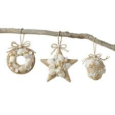 mud pie christmas ornaments rope shell ornament living mud pie mud pie