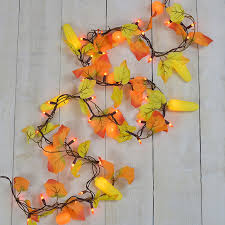 Maple Leaf Corn Pumpkin Party String Lights Garland Style