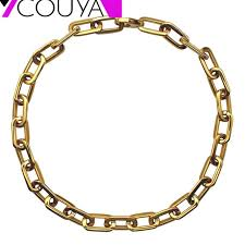chain link necklace images 2017 simple chain link necklace soldier gold chain thick long jpg