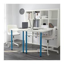 Blue Computer Desk by Kallax Workstation Black Brown Ikea