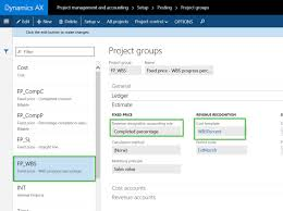 dynamics ax tip percentage complete calculation for revenue