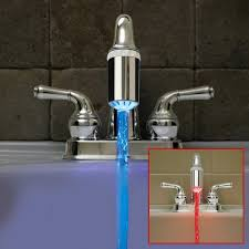 bathroom faucet with led light bathroom faucets with led lights lighting faucet light home depot