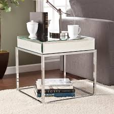 Upton Home Coffee Table Upton Home Adelie Mirrored End Table Overstock Shopping