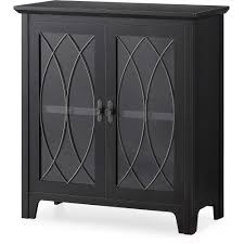 Accent Cabinets Whalen Dining And Accent Storage Cabinet Charcoal Black Finish