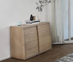 Oak Small Sideboard Small Contemporary Sideboard A1752 Wharfside Danish Specialists