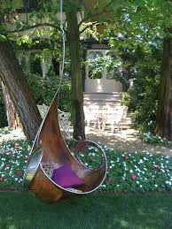 Hanging Swing Chair Outdoor by Unique Brown Hanging Swing Chair With Stainless Steel Frames