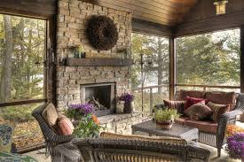 Outdoor Fireplace Accessories - new york screen porch plans farmhouse with farm house traditional
