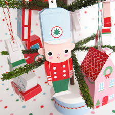 toy soldier train drum ornaments printable paper christmas