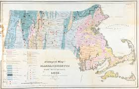 Massachusetts On The Map by Geology