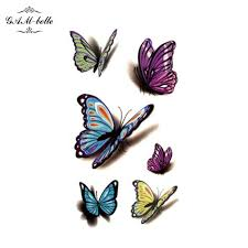 3d colorful butterfly stickers waterproof chest