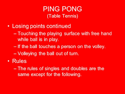 table tennis doubles rules ping pong table tennis ppt video online download