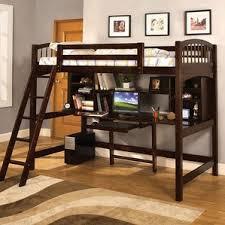 Loft Bunk  Loft Beds Youll Love Wayfair - Twin bunk bed with desk