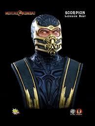 Mortal Kombat Scorpion Halloween Costume Kombat Statue Scorpion Size Bust