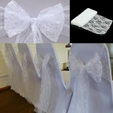 lace chair sashes 60pcs new design fashion white lace chair sash bow wedding