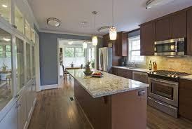 Galley Kitchen Lighting Small Galley Kitchen With Island Interior Design