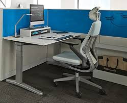 Steelcase Office Desk Steelcase Gesture Office Desk Chair With Headrest Low Black Frame