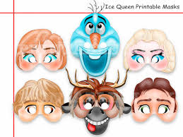 printable frozen images unique frozen printable masks party by holidaypartystar on zibbet