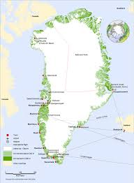 Arctic Circle Map Greenland Map Map Of Greenland Greenland Map In English