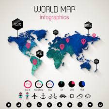 world map vector free world map infographics vector free vector graphic