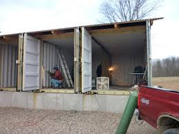 metal shipping container homes in how to build tin can cabin