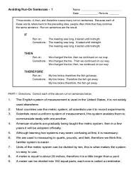 rambling sentences worksheet the best and most comprehensive