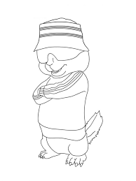 alvin chipmunks coloring pages simon wearing sunglasses