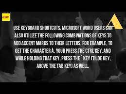 Resume Accent Mark How Do You Get An Accent Over A Letter In Word Youtube