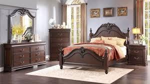 4 piece queen classic cherry finish bedroom set 16 cents 3