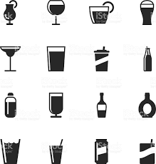tropical cocktail silhouette drink silhouette icons set 2 stock vector art 456076849 istock