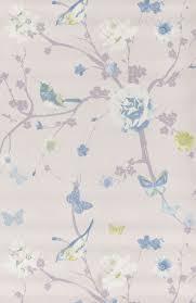papier peint lutece chambre branche oiseau bleu papier peint floral de lutèce