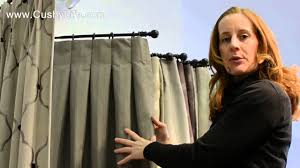 hanging pinch pleat curtains instructions the inverted box pleat drape youtube