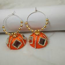 customized earrings silk thread earrings orders undertaken colours can be