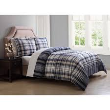 Eddie Bauer Rugged Plaid Comforter Set Normandy Plaid Black Comforter Set By Eddie Bauer Hayneedle