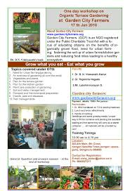 workshop on organic terrace gardening whatshapp bengaluru