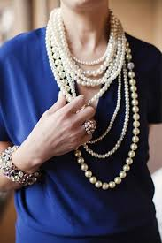 fashion pearls necklace images Bridal pearls jewelry accessories and decor junebug weddings jpg