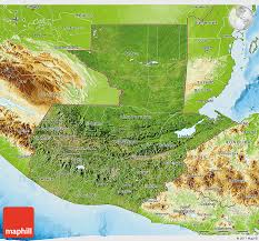 geographical map of guatemala satellite 3d map of guatemala physical outside