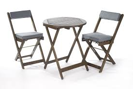 Grey Bistro Table Greenhurst Solid Acacia 2 Seater Patio Set With Bistro Table