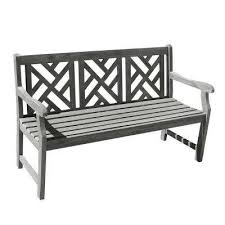 Black And White Patio Furniture Outdoor Benches Patio Chairs The Home Depot