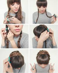 beauty step by step halo crown braids the lovecats inc