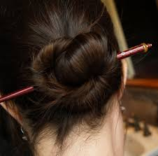 chopsticks for hair five ten fifteen do you put your hair up with a knot a