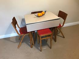 vintage 1950 60 u0027s formica top ext kitchen table with 3 matching