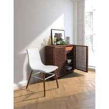 Storage Console Table Zuo Linea Walnut Storage Console Table 199050 The Home Depot