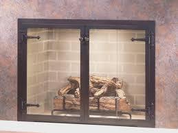 fireplace best prefab fireplace doors inspirational home
