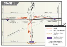 Surprise Arizona Map by Loop 303 Construction Will Finish Interstate 10 Interchange