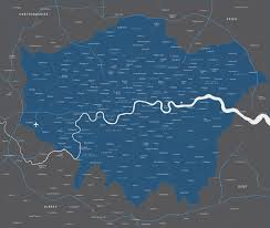 London Zip Code Map by Map Of Greater London Districts And Boroughs Maproom